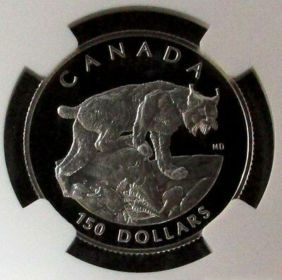 1995 Platinum Canada $150 Ngc Proof 69 Uc Endangered Series Lynx Only 762 Minted