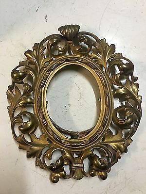 Beautiful Floral Art Nouveau Victorian Brass Picture Frame
