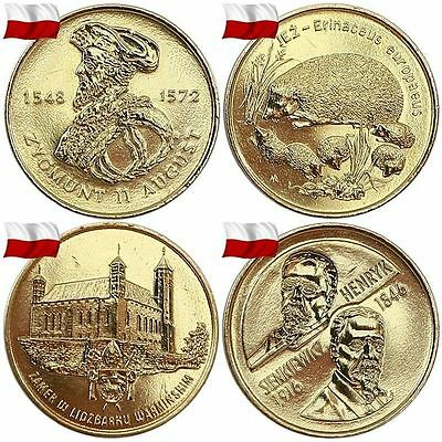 Gbp   Poland 2 Zl 1995-2002 Year Complet All Commemorative Coins Zlote Years Set
