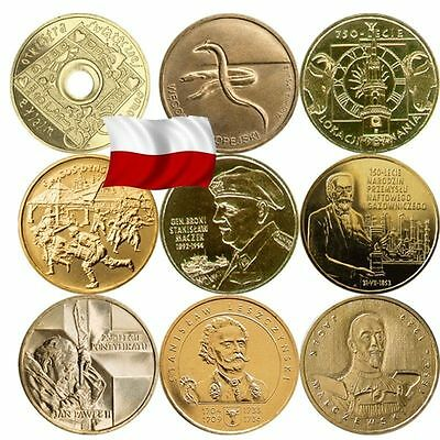 Gbp   Poland 2 Zl 2003-2005 Year Complet All Commemorative Coins Zlote