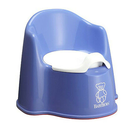 BABYBJORN Potty Chair Baby Toddler Toilet Training Sturdy Comfy Easy Clean  Blue