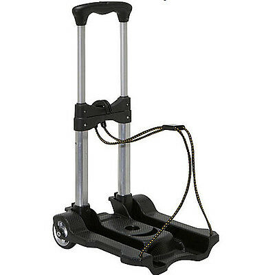 Samsonite Compact Folding Luggage Cart Travel Rolling Sturdy Stainless Steel ABS