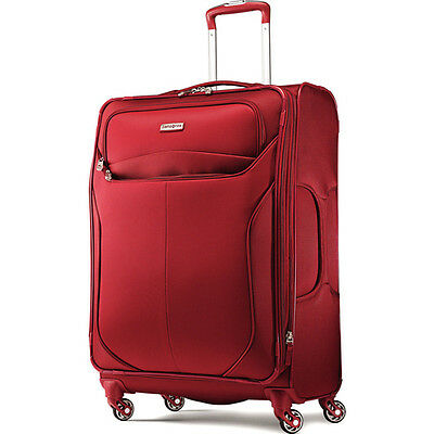 "Red Samsonite LIFTwo 29"" Spinner Luggage Soft Side Bag 4 Smooth Rolling Wheels"