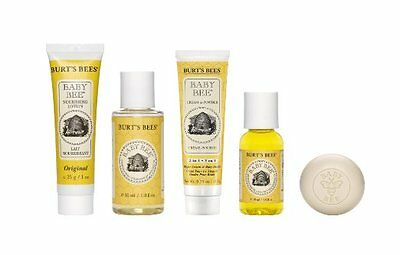 Burts Bees Baby Getting Started Gift Set Lotion Shampoo Soap Cream Oil & Powder