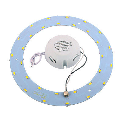 15W 30 LED Light Panel Annular 5730 SMD Saving Plate Ceiling Lamp Warm White