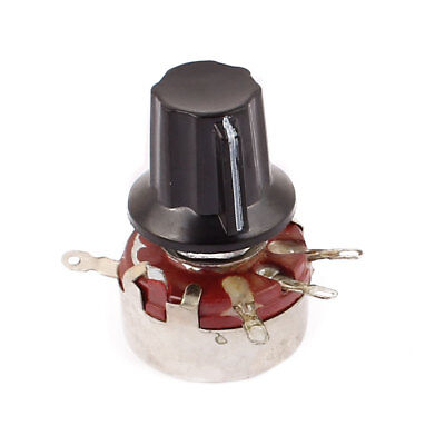 WTH118 Rotary Carbon Film Potentiometer 150K Ohm Adjustable Resistance w Cap