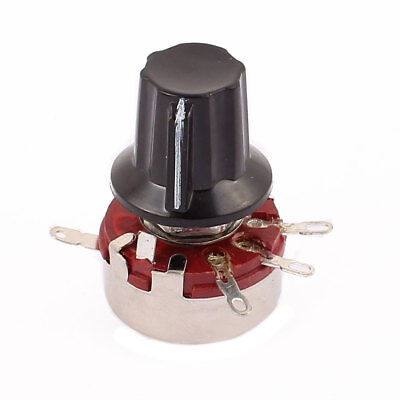 WTH118 Rotary Carbon Film Potentiometer 680K Ohm Adjustable Resistance w Cap