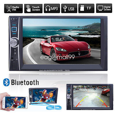 7'' Touch Bluetooth HD Autoradio Stereo MP3 MP5 Player AUX/GPS/USB/Remoto 2DIN
