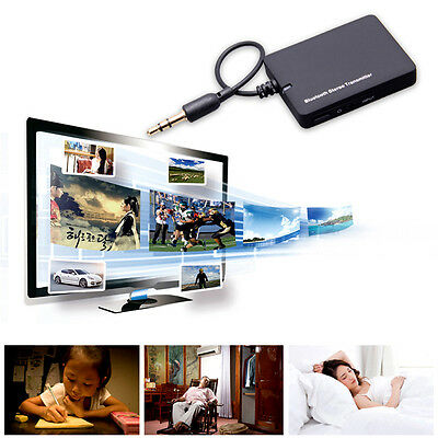 3.5mm Bluetooth MP3 Stereo Music Transmitter Audio A2DP Adapter Dongle For TV PC