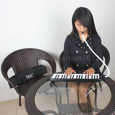 37 Keys Piano Melodica Pianica with Carrying Bag for Beginners Black K4M3