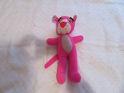 Vintage 1980 Mighty Star Pink Panther Stuffed Animal Plush Inspector Cartoon