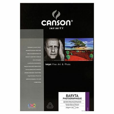 Canson infinity Baryta Photographique 25 feuilles 310g/m² A2