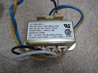 NEW Honeywell Transformer AT120B1028 Primary 120V 60Hz .23A Sec 24VAC 20VA