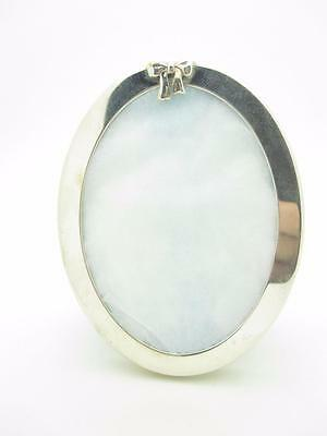 Tiffany & Co. Sterling Silver Small Oval Bow Picture Frame