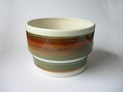 1970's Modernist Planter with Painted Glaze Stripes