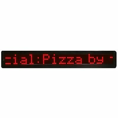 """26"""" Programmable Red Scrolling Message Sign Light Up Red Lit"""