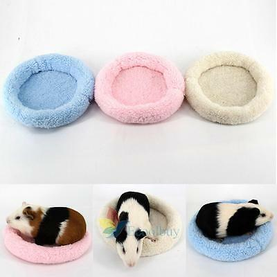 Soft Fleece Guinea Pig Bed Winter Small Animal Cage Mat Hamster Sleeping Bed #A