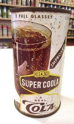 1958 Str/Steel Cantrell & Cochrane Super Coola Cola Soda Flat Top Pop Can