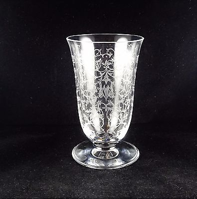 """Baccarat Michelangelo 6"""" Flared Vase - Etched Scrolls and Swag"""