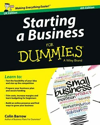 Starting a Business For Dummies - UK by Barrow, Colin Book The Cheap Fast Free