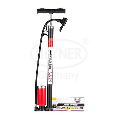 (702) Heyner Premium heavy duty hand pump with pressure gauge for car 7 bar