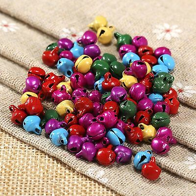 Wholesale 100pcs Christmas Ringing Jingle Bell Beads Charms Xmas Jewellery Craft