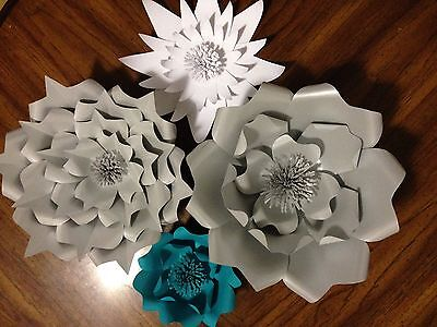 Large Paper Flowers Wedding Flowers Photo Backdrop Flower Wall Paper Flowers