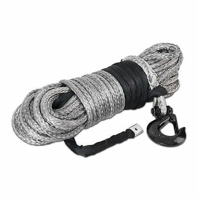 Dyneema SK75 Winch Rope Hook Synthetic High Strength Rope 10mm x 30M