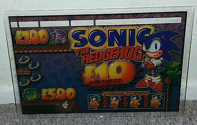 Sonic The Hedgehog Fruit Machine Glass £10 Repeater FREE UK SIGNED P&P