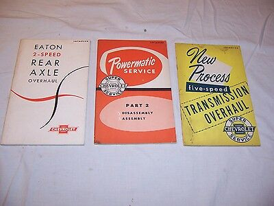 1956 - 1957 Chevy Truck Service Manuals NOS