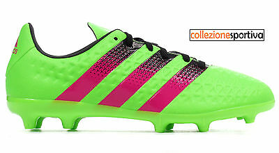 the latest 9f277 bdd7b SCARPE CALCIO ADIDAS ACE 16.3 FG AG JUNIOR - AF5154 col. verde rosa