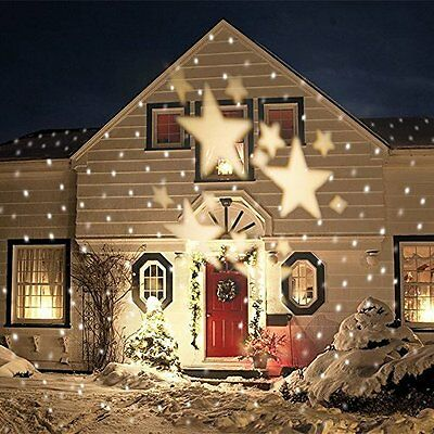 Bloomwin Moving Star Spotlight Soft White LED Landscape Projector Lamp Christmas