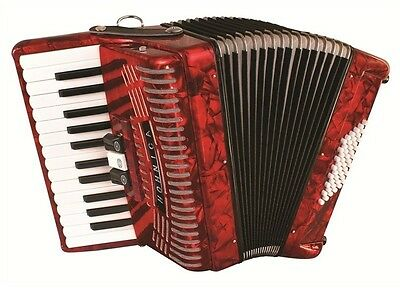 BRAND NEW Hohner Hohnica 48 Bass Accordion - Great for Beginners! IN RED