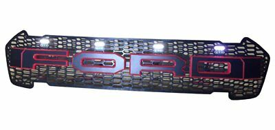 RANGER NEW Custom Grill Fits 2015 / 2016 MKII Models - RED Letters w White LEDs