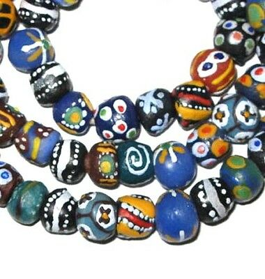African Ghana Krobo Powderglass Trade Beads