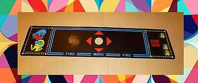 Multicade Pac Man Control panel overlay Without trackball Die Cut