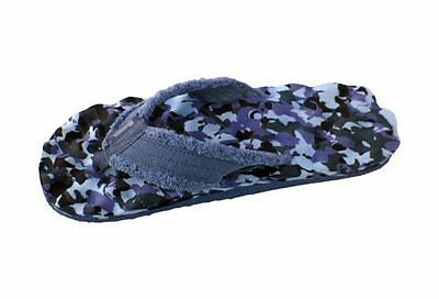 Kokoda Knobby Navy Blue Camo Thongs, Flip Flops, Massage, Cloth Perfect Gift!