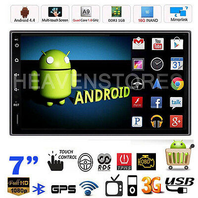 "Camera+ 7"" Android 4.4 WIFI 2 Din Car Stereo GPS Navi MP5 Player Radio Bluetooth"
