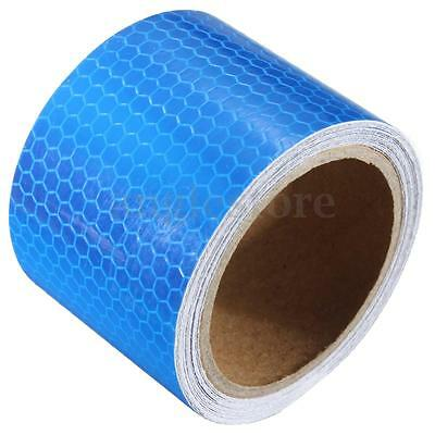 3M x 5CM Blue Reflective Safety Warning Conspicuity Tape Film Sticker Roll Strip