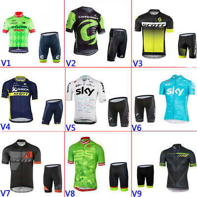 2016 New outdoor team wear  cycling jersey and shorts set, 3 pockets in the back