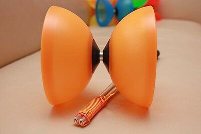 Diabolo-Set: HENRYS Diabolo Vision, orange, plus Alu-Handstäbe 325