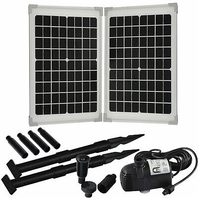 20 solar teichpumpe springbrunnen pumpe solarpumpe filter teich gartenteichpumpe eur 115 00. Black Bedroom Furniture Sets. Home Design Ideas