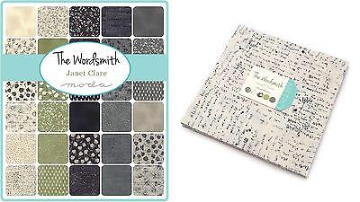 """Patchwork/quilting Fabric Layer Cake Moda 40 X 10"""" X 10"""" - The Wordsmith"""