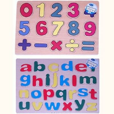 Wooden ABC and/or 123 puzzle by A to Z Great little educational gift