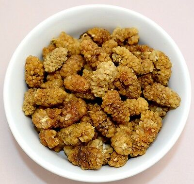 ORGANIC DRIED White MULBERRIES 950g-1kg SUPER FOOD Mulberry Vegan Premium Sale