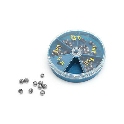 0.3g-0.8g Fishing Angling Lead Weight Rig Split Shot Sinkers with Box Case New
