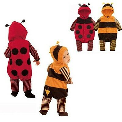 Cute Baby Toddler Childrens Funny LADYBIRD BEE Fancy Dress Costume Romper Outfit