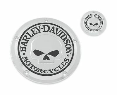 harley willie g skull derby timer cover softail dyna touring electra glide flstc