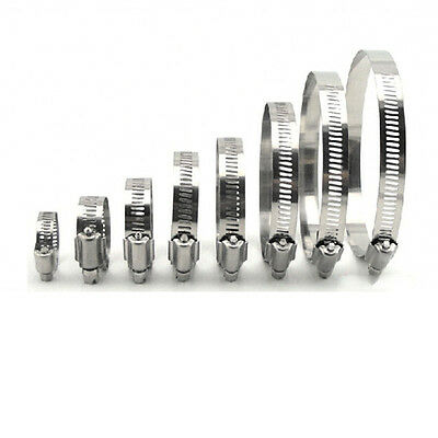 Adjustable Jubilee Stainless Steel Hose Clips Pipe Clamps  Multi Size 9mm-230mm