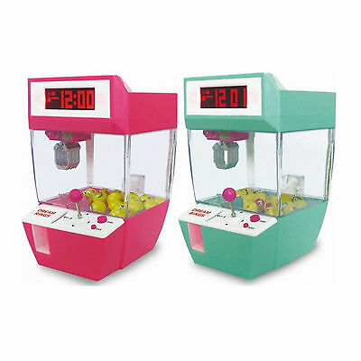 Candy Claw LCD Alarm Clock Machine Sound Music Fun Gadget Electronic Kid Gift